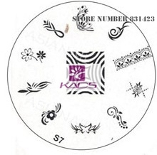 2015 S Series S7 Nail Polish DIY Stamping Plates Stainless Steel plate Nail Art Image Stamp