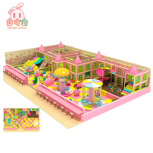 factory supply Korean cute and pink castle series maze game for children with electric amusement play