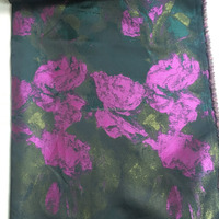 Shaoxing factory customize jacquard floral fabric for lady dress
