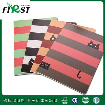 Colorful customized logo printed promotion note book 80p exercise swen binding notebooks