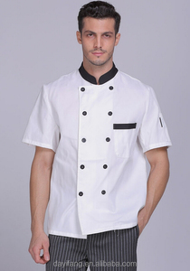 Chef western restaurant uniform short sleeve custom embroidery logo cook workwear