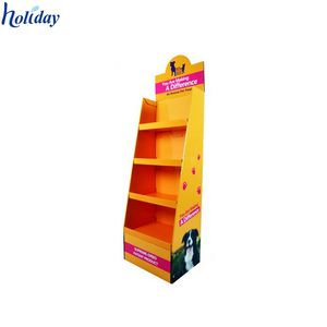 Red CD'S &DVD'S retail counter display,cardboard display counter