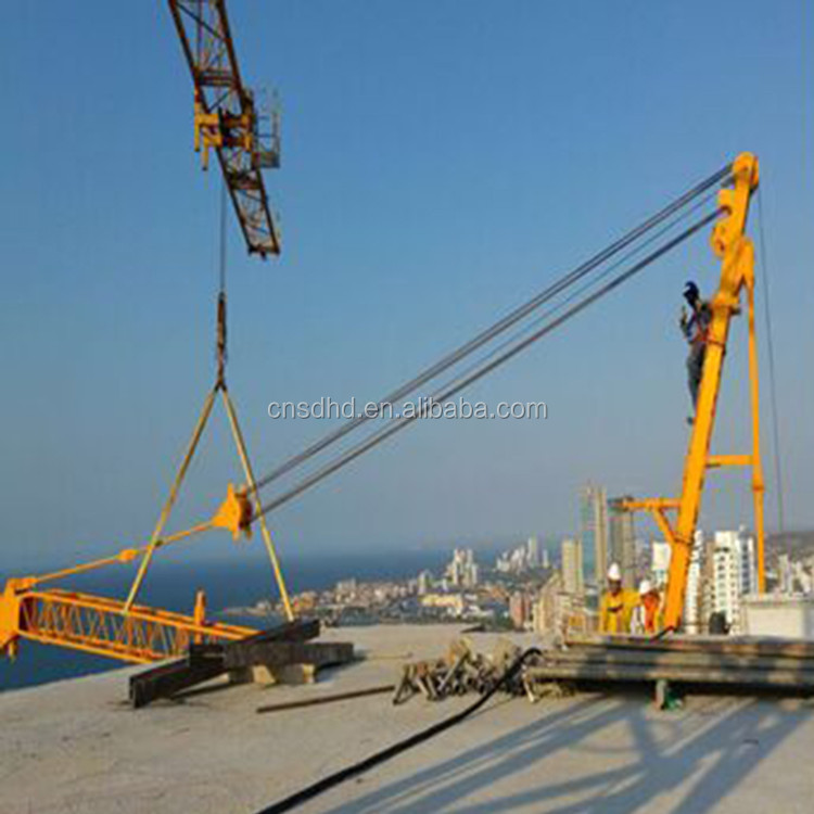 China 10t roof luffing jib tower crane stationary/traveling