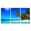 Seascape Canvas Wall Art/Tropical Beach Contemporary Canvas Print /Palm Tree Print on Canvas Gallery Wrapped on Wooden Bars
