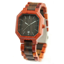 Netherland 2 Tone Polygan Natural Wooden Watch Men Custom Watch