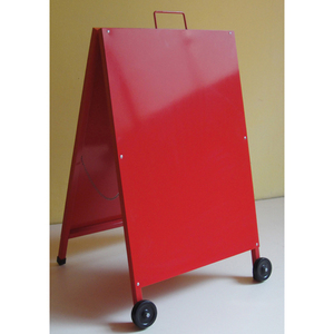 A stand metal sign pavement wind proof movable advertising board