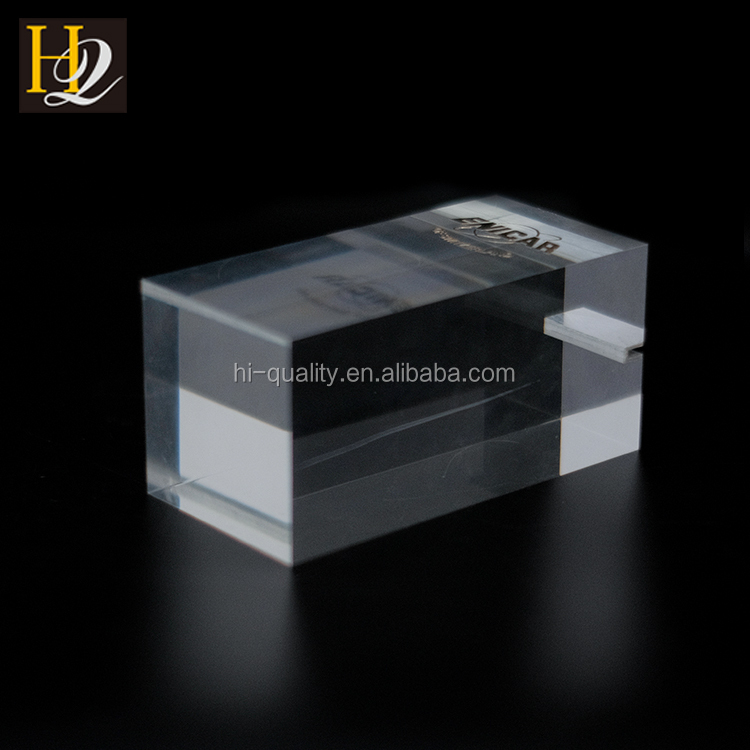Customized cube solid clear acrylic block