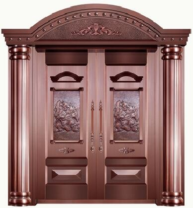 Copper doors luxury house out doors