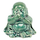 Antique designs jade green color home decor small ceramic laughing buddha statue