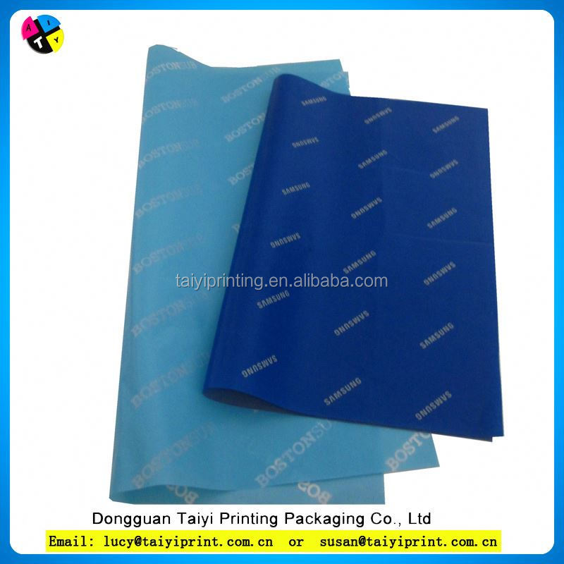 gifts and clothes packing tissue paper / color wrapping tissue paper factory direct sale