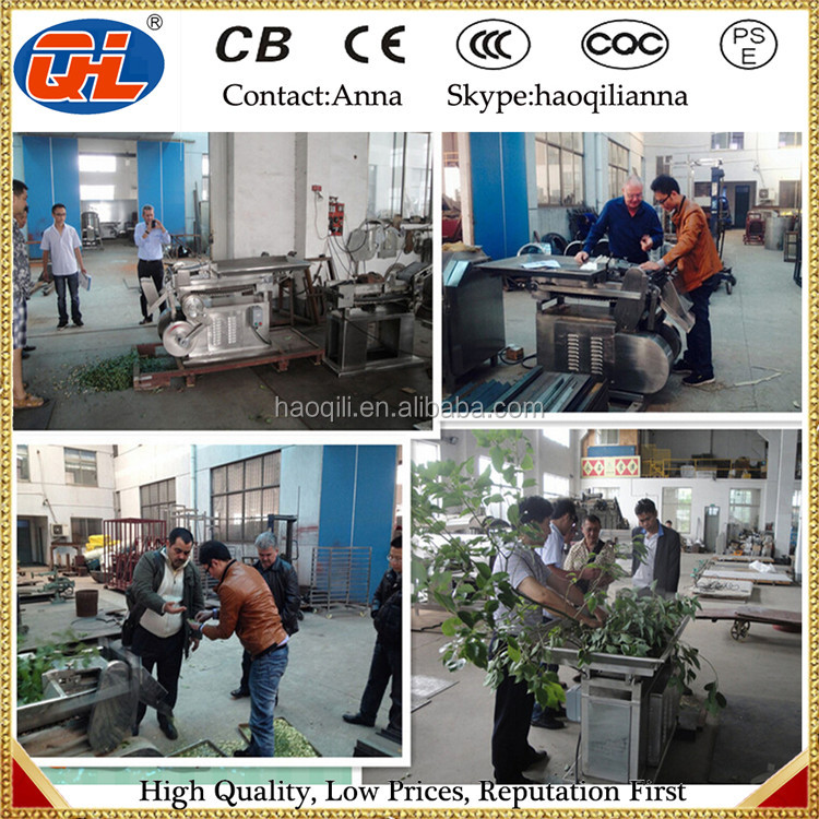 herb cutting machine for extraction