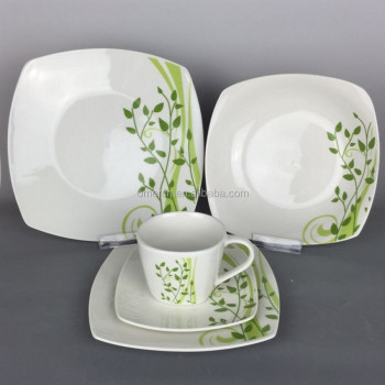 Cheap Price 20/30 pcs Fine Porcelain Dinner Set New Design Square Dinnerware Sets : dinnerware cheap - pezcame.com