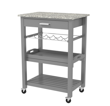 Marble Top Kitchen Trolley Creepingthyme Info