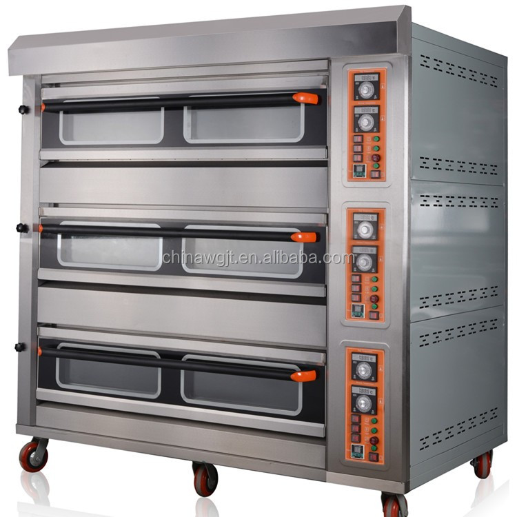 Oem Commercial Bread Electric Big Oven 4 Trays Each Deck ...