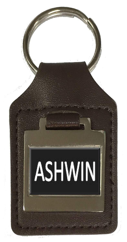 Andrew Leather Keyring Birthday Name Optional Engraving