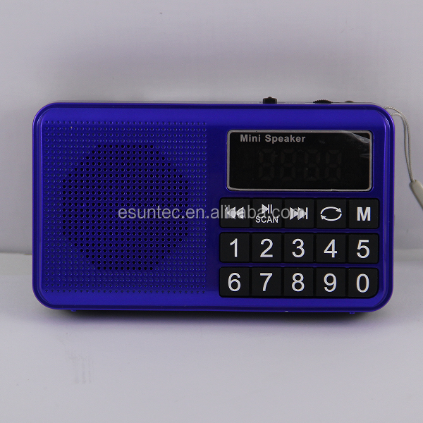 Portable MP3 function mini speaker, AM SW FM style radio, SPU-007H