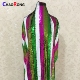 CRF0656 wholesale multi color sequin embroidery lace fabric