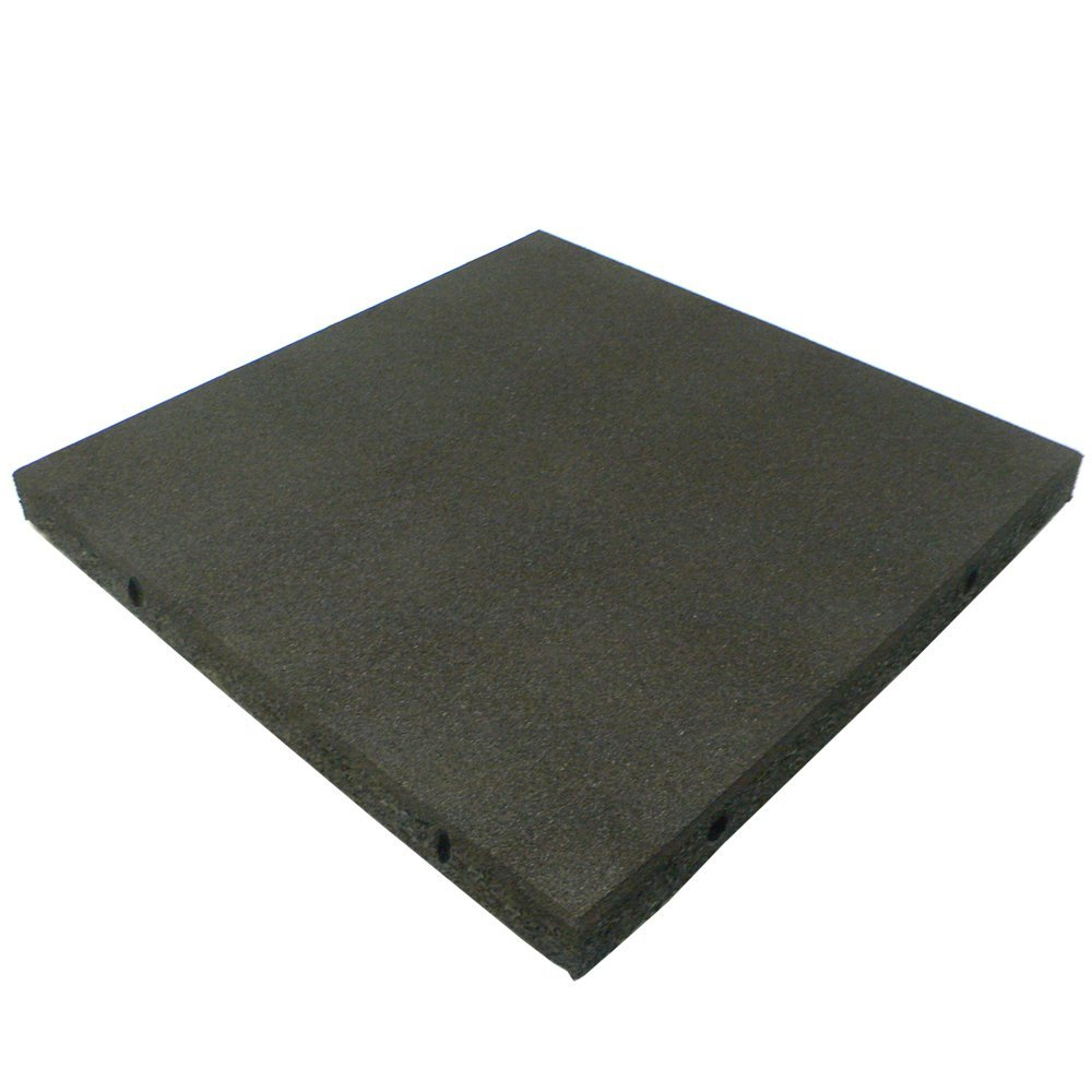 """Rubber-Cal """"Eco-Safety"""" Interlocking Playground Tiles - 2.50 x 19.5 x 19.5 inch - Pack of 4 Playground Tiles, 11 Square Feet Coverage - 4 Colors"""