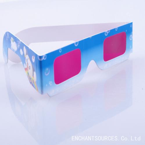Custom eco-friendly red len paper 3d glasses