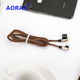 AORAX Wholesale 1m mobile phone flexible USB data cable ultra thin usb cable fast charging data cable for android