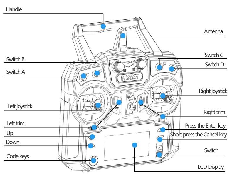 Flysky Fs I6 2 4ghz 6ch Afhds 2a Radio System Transmitter