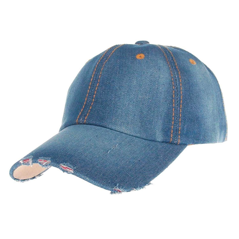 Hanican Fashion Women Men Hats Casual Denim Baseball Caps Jean Sport Hat Sun Cap