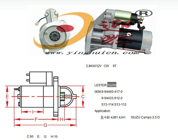 Auto Starter 8-94460-417-0 8-94433-912-0 S13-114 S13-112