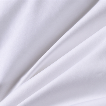 Hotel bed linen 100% cotton white satin fabric
