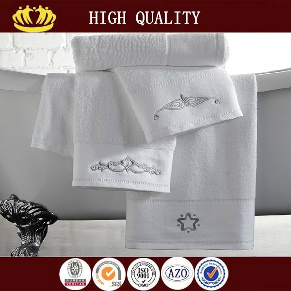100% cotton jacquard embroidery hotel towel set on sale