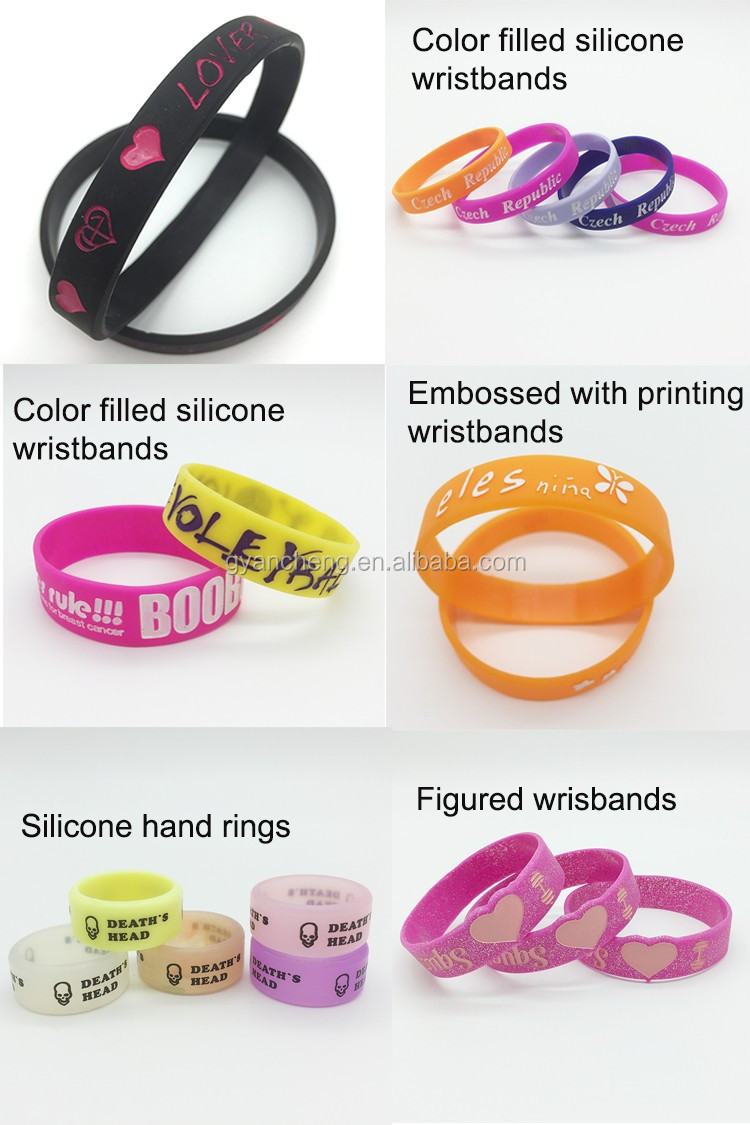 Promotion gift with silk-print silicone bracelet