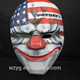 The clown mask