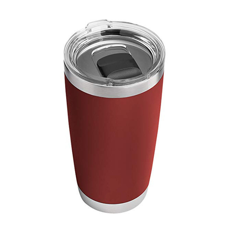 Double Wall Vacuum Insulated Travel Tumbler Cup 20oz Stainless Steel Tumbler With Slide Lid