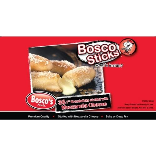 Boscos Pizza Cheese Filled Breadstick -- 144 per case.