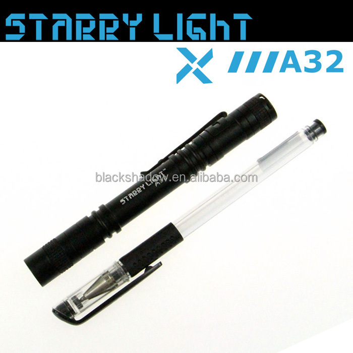 StarryLight A32 mini led flashlight AAA battery doctor pen flashlight with pocket clip