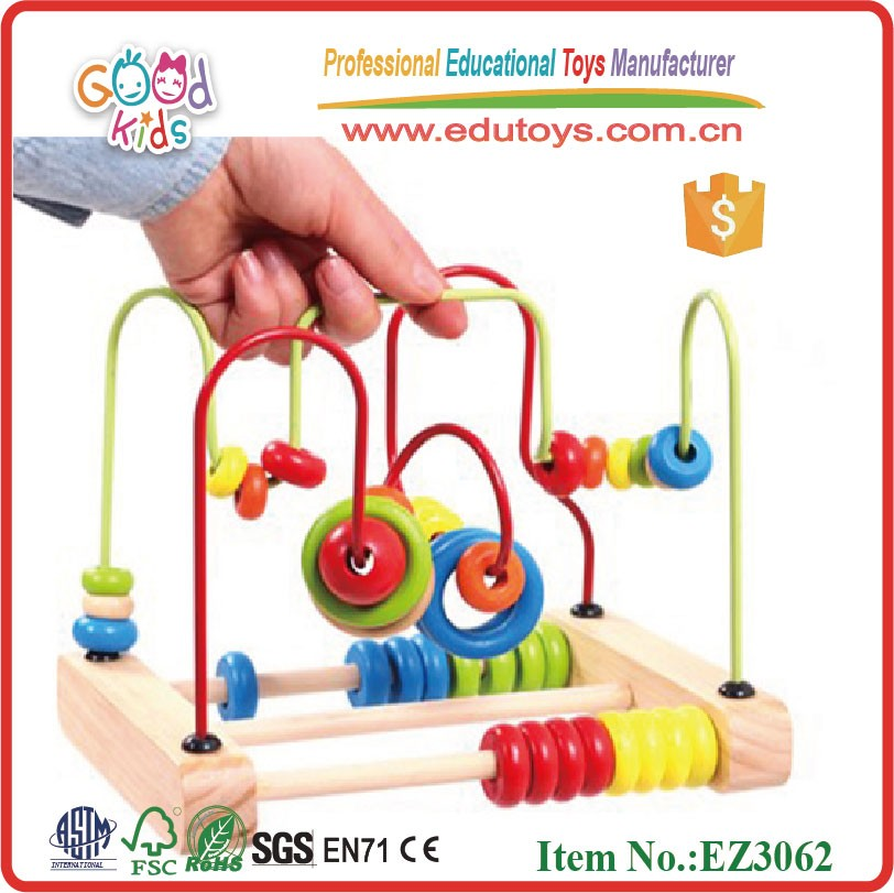Educational Toys 18 Months Old : Educational toys for month old wooden racking beads toy