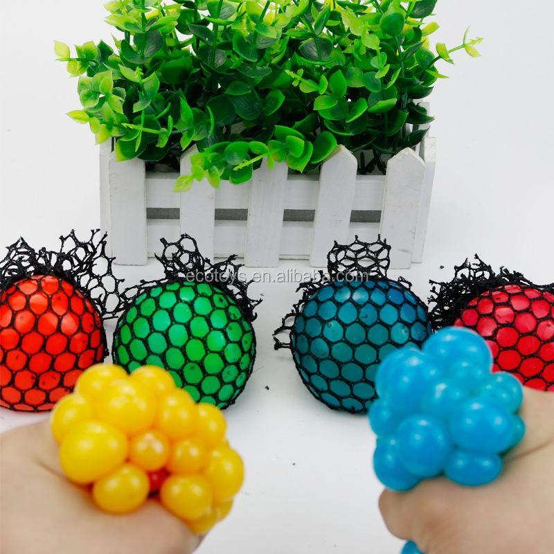 Bead Stress <strong>Ball</strong> Rubber Vent Grape <strong>Ball</strong> Hand Wrist Toy Mesh Squishy <strong>Ball</strong>