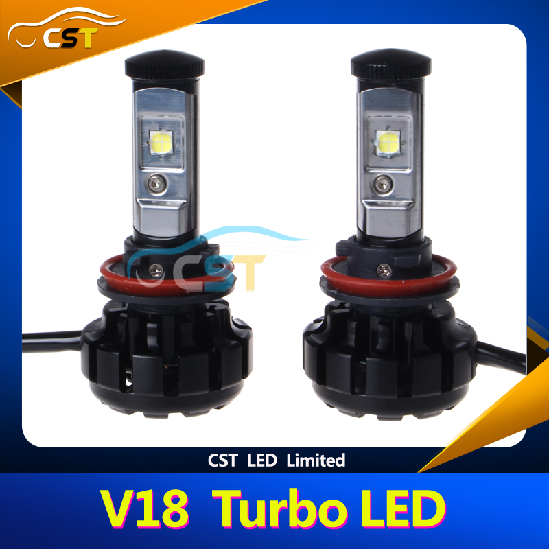 3000K 4300K 6500K 8000K V18 Headlight LED with XHP50 Chip the V18 Turbo 2017 LED Headlight
