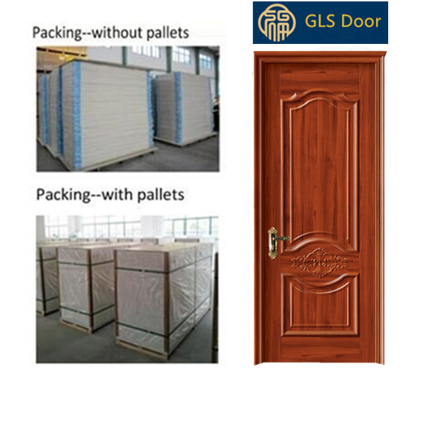 High quality good design steel wooden Armored door modern house door made in china