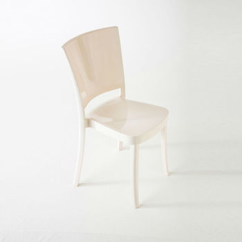 Coloured Polycarbonate Chair LUCIENNE Cream