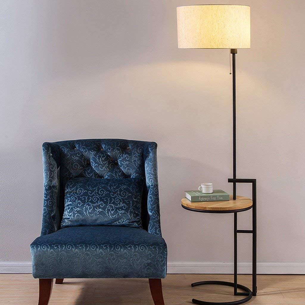 Floor Lamp With Attached Table