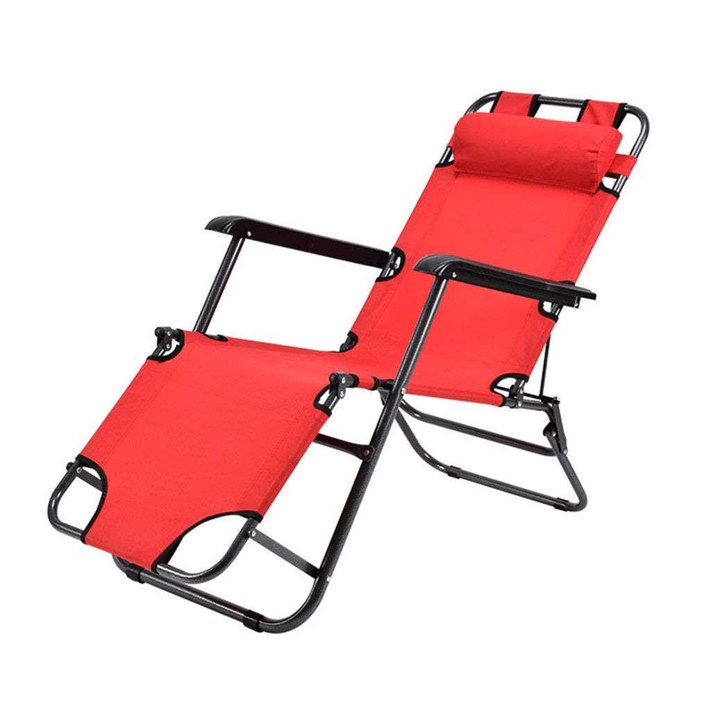 Recliners Chairs Tatami recliner lounge sofa lunch Lounge chair folding chair siesta bed multifunctional lunch break office chair rest bed sit dual purpose ( Color : Red )