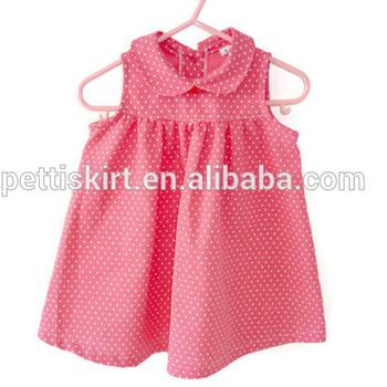 60f1f0616 Stylish Pink Baby Girls Dress Polka Dots Peterpan Collar Normal Frock  Designs - Buy Pink Polka Dots Peterpan Collar Baby Girl Dress