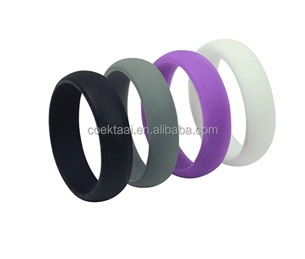 Food Grade Mens Silicone Wedding Ring Band