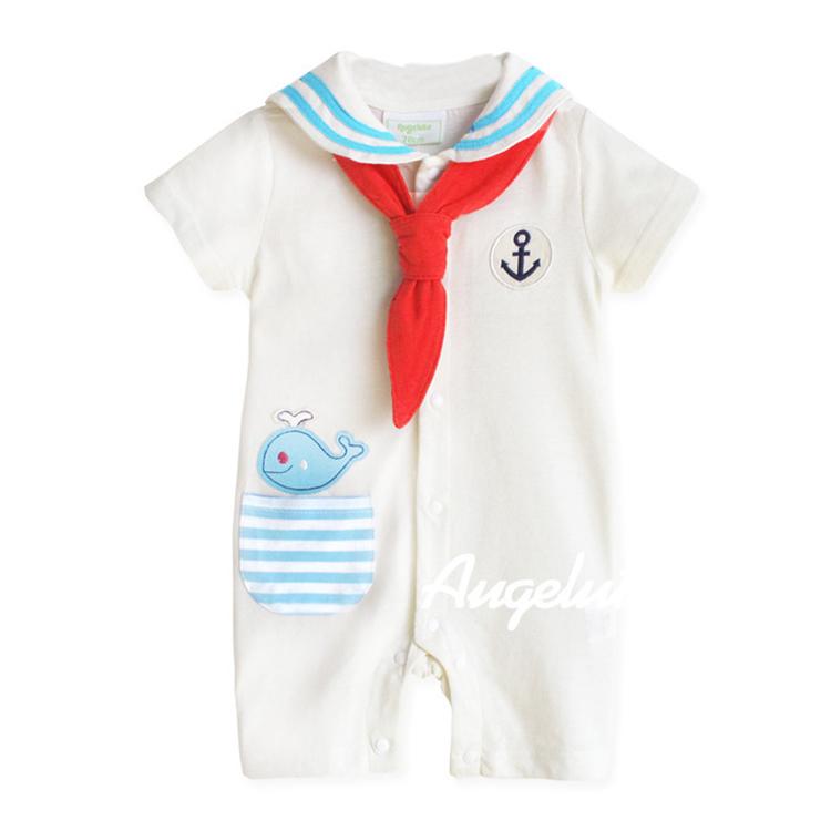 Aengbay French Bulldog Baby Newborn Infant Organic Cotton Romper Short Sleeves Girl Boy Jumpsuit