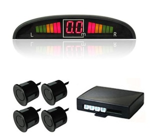 Black Car Rear sensor Parking Reverse 4 Sensor & LED Displayer/rear beep sensor for car parking