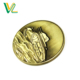 Custom design high quality Zinc Alloy Anti Bronze Tank shape for Gift Marine Metal Craft Emblem