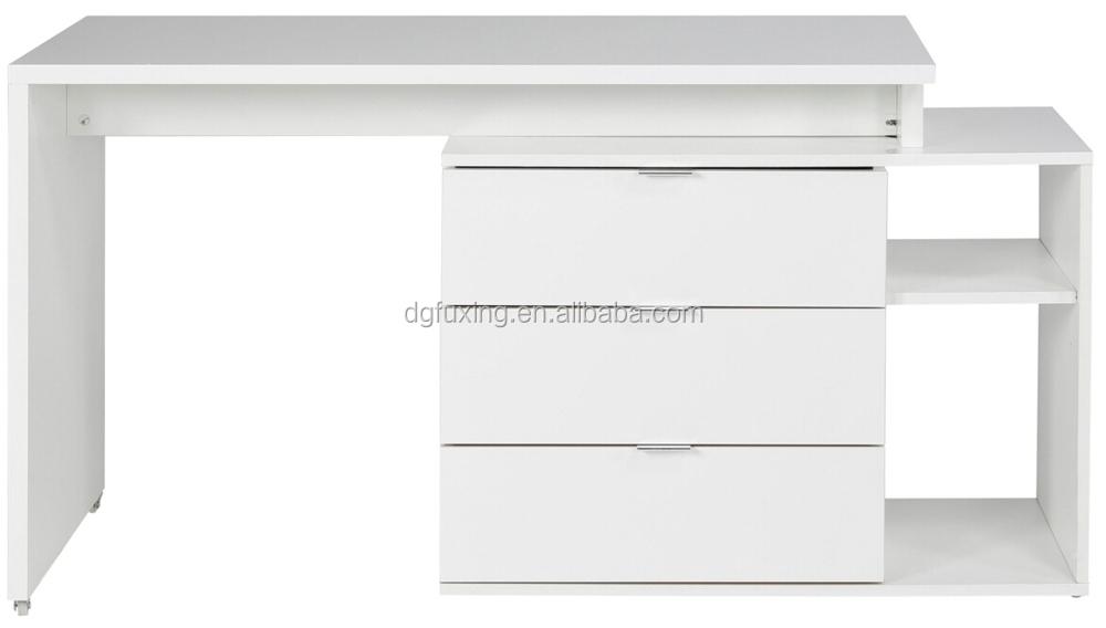 Elegant And Funny White Color MFC/MDF Melamine Panels Office Furniture  Computer Desk