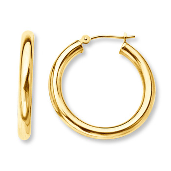 Rose gold earrings hoops
