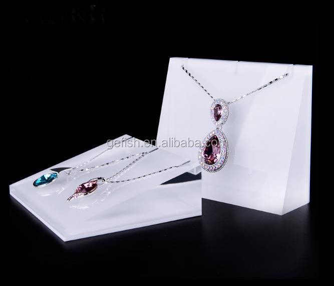 White Acrylic Jewellery Display Block Stand