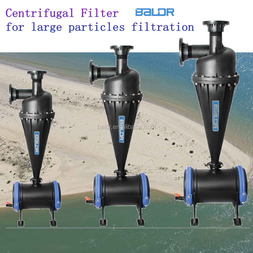 drip irrigation water hydrocyclone Centrifugal Sand Water Cyclone Filter